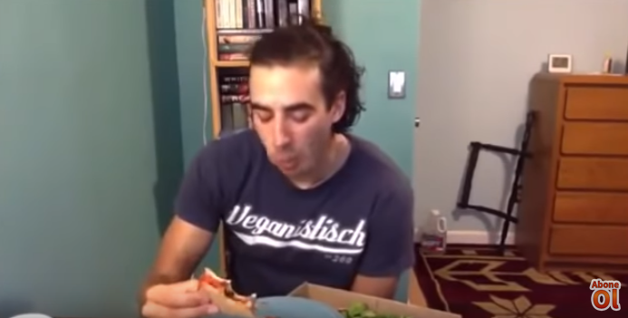 Watch this vegan freak after he eats some cheese!!
